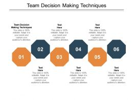 Team Decision Making Techniques Ppt Powerpoint Presentation Gallery Grid Cpb