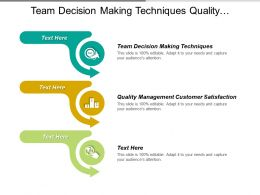 Team Decision Making Techniques Quality Management Customer Satisfaction Cpb