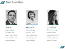 Team Description Powerpoint Slide Ideas