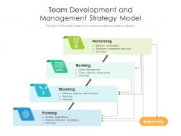 Team Development And Management Strategy Model