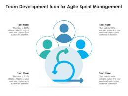 Team Development Icon For Agile Sprint Management