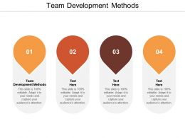 Team Development Methods Ppt Powerpoint Presentation Styles Grid Cpb