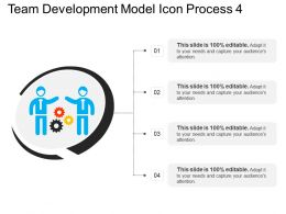 Team Development Model Icon Process 4