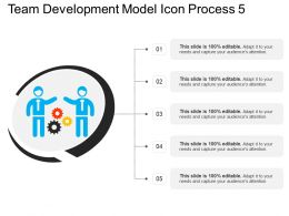 Team Development Model Icon Process 5