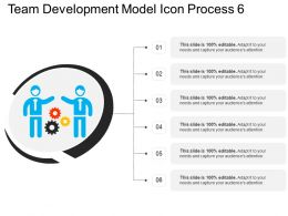 Team Development Model Icon Process 6
