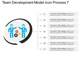 Team Development Model Icon Process 7