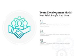 Team Development Model Icon With People And Gear