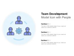 Team Development Model Icon With People