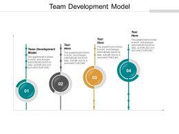 Team Development Model Ppt Powerpoint Presentation Portfolio Ideas Cpb