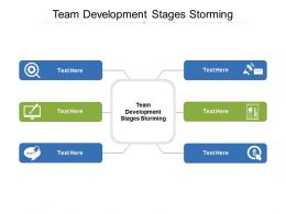Team Development Stages Storming Ppt Powerpoint Presentation Infographics Slideshow Cpb