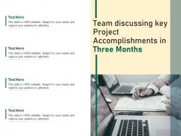 Team Discussing Key Project Accomplishments In Three Months
