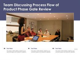 Team Discussing Process Flow Of Product Phase Gate Review