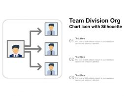 Team Division Org Chart Icon With Silhouette