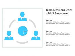 Team Divisions Icons With 3 Employees