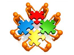 team_doing_efforts_to_fix_puzzle_stock_photo_Slide01