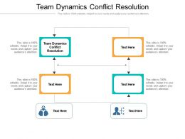 Team Dynamics Conflict Resolution Ppt Powerpoint Presentation Visuals Cpb