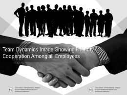 Team Dynamics Image Showing Friendly Cooperation Among All Employees