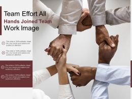 Team Effort All Hands Joined Team Work Image