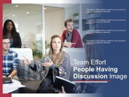 Team Effort People Having Discussion Image