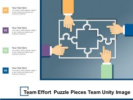 Team Effort Puzzle Pieces Team Unity Image