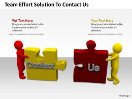 Team Effort Solution To Contact Us Ppt Graphics Icons Powerpoint