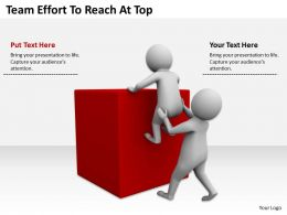 Team Effort To Reach At Top Ppt Graphics Icons Powerpoint