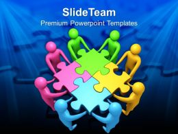 Team Efforts To Form Puzzle Business Powerpoint Templates Ppt Themes And Graphics