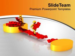 Team Efforts To Make Path To Success Powerpoint Templates Ppt Themes And Graphics 0313