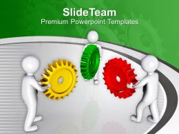 Team Efforts To Manage Gears Industrial PowerPoint Templates PPT Themes And Graphics 0213