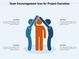 Team Encouragement Icon For Project Execution