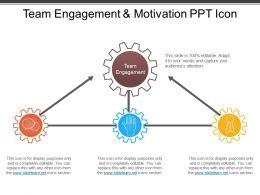 Team Engagement And Motivation Ppt Icon