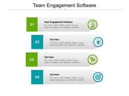 Team Engagement Software Ppt Powerpoint Presentation Portfolio Model Cpb