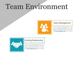 Team Environment Presentation Portfolio