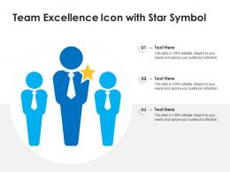 Team Excellence Icon With Star Symbol