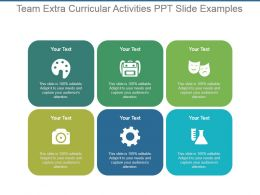 Team Extra Curricular Activities Ppt Slide Examples