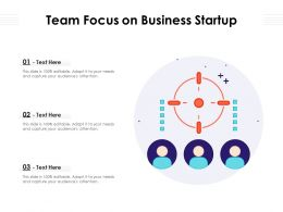 Team Focus On Business Startup