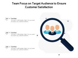 Team Focus On Target Audience To Ensure Customer Satisfaction