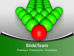 Team Follows Red Leader Leadership Powerpoint Templates Ppt Backgrounds For Slides 0113