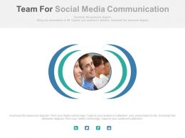 Team For Social Media Communication Powerpoint Slides