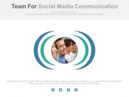 Team For Social Media Communication Powerpoint Slides