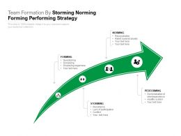 Team Formation By Storming Norming Forming Performing Strategy