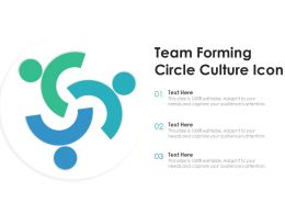 Team Forming Circle Culture Icon