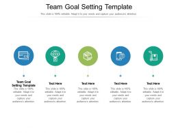 Team Goal Setting Template Ppt Powerpoint Presentation Professional Display Cpb