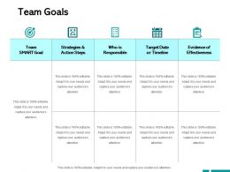 Team Goals Action Steps Ppt Powerpoint Presentation Outline Structure