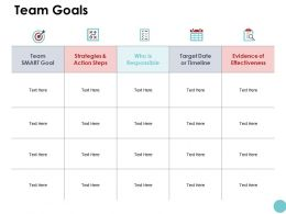 Team Goals And Targets Ppt Powerpoint Presentation Icon Summary