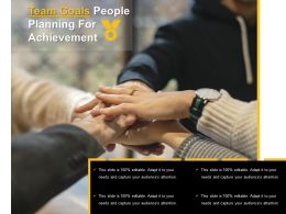 Team Goals People Planning For Achievement
