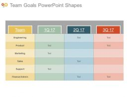 Team Goals Powerpoint Shapes
