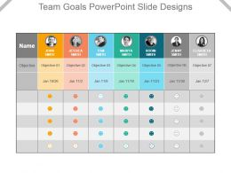 Team Goals Powerpoint Slide Designs