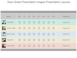 Team Goals Presentation Images Presentation Layouts