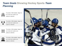 Team Goals Showing Hockey Sports Team Planning